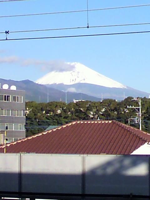今日の富士山(<br />  通勤途中です!)
